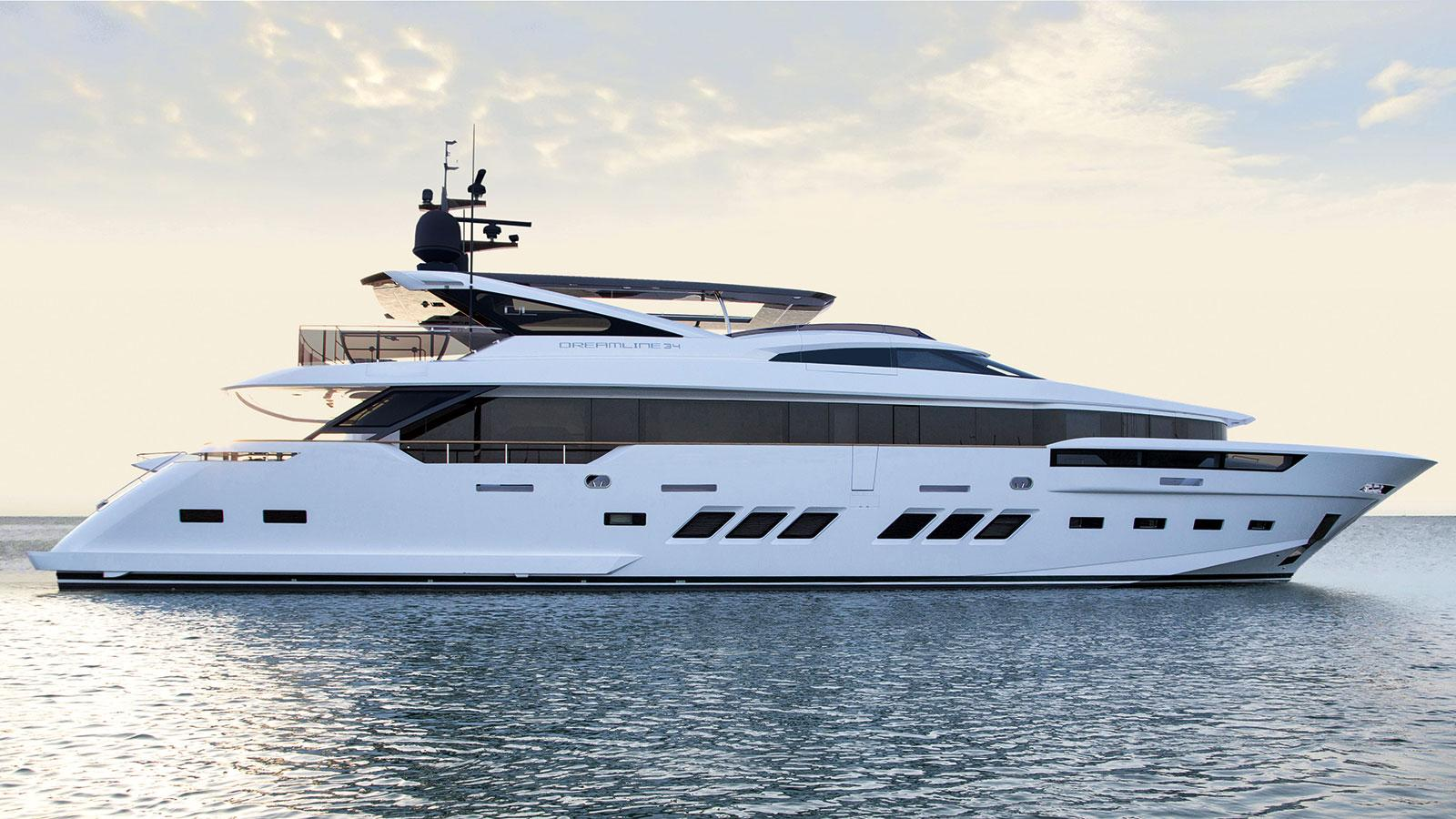DREAMLINE YACHTS 34 METRES SY PRESTIGE YACHTS CANNES ST TROPEZ MONACO FRANCE